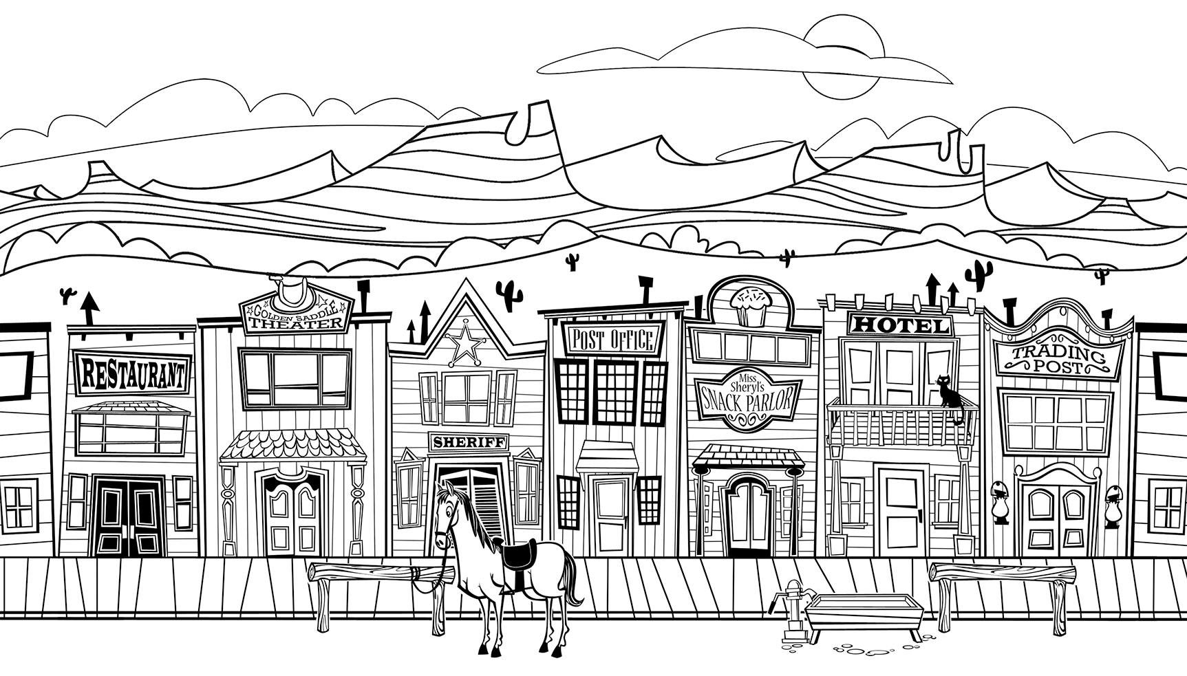 Free Coloring Pages Of Medieval Town Town Coloring Pages