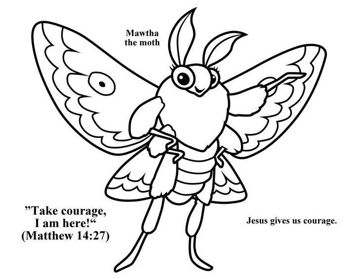 Mother The Moth Coloring Page